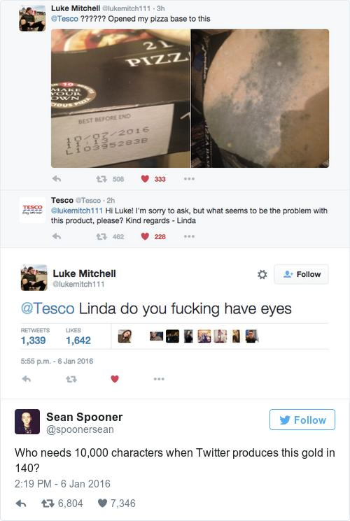 A Mouldy Pizza Base From Tesco Made For One Hilariously