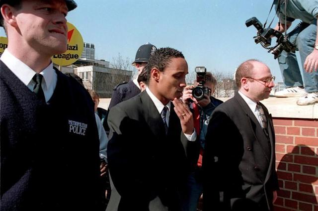 FILE PHOTO: Manchester United midfielder Paul Ince arrives at Croydon Magistrates Court