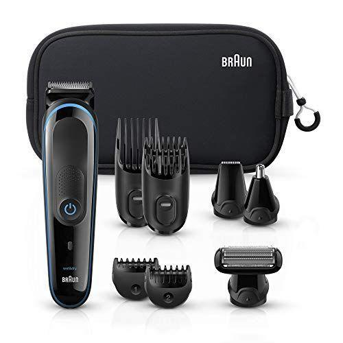 """<p><strong>Braun</strong></p><p>amazon.com</p><p><strong>$54.99</strong></p><p><a href=""""https://www.amazon.com/dp/B07JFJQH2K?tag=syn-yahoo-20&ascsubtag=%5Bartid%7C2139.g.25423792%5Bsrc%7Cyahoo-us"""" rel=""""nofollow noopener"""" target=""""_blank"""" data-ylk=""""slk:BUY IT HERE"""" class=""""link rapid-noclick-resp"""">BUY IT HERE</a></p><p>This kit comes with everything you need for head-to-toe grooming. It can also be used in the shower if you prefer a wet shave. It includes four combs covering 13 precision lengths, a detail trimmer and ear & nose trimmer attachments.</p>"""