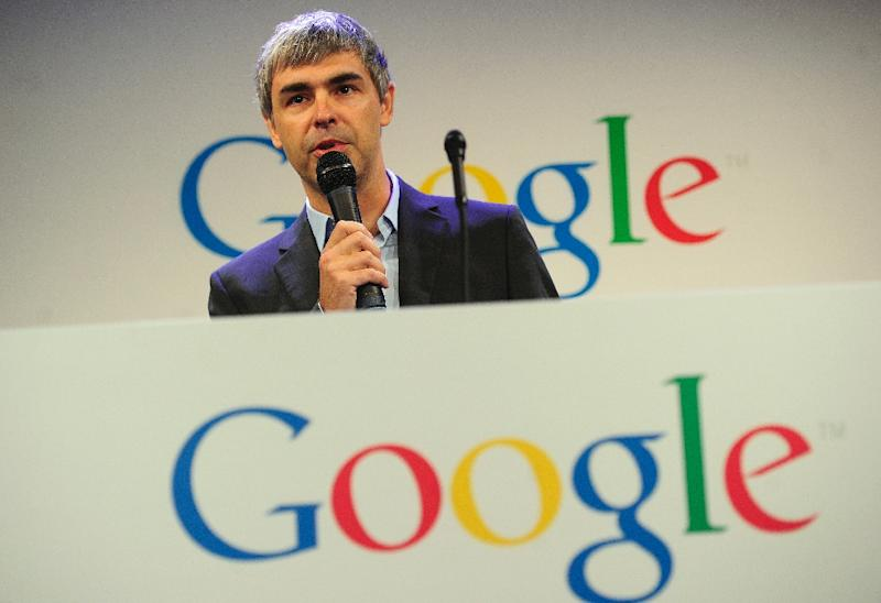 Chief executive Larry Page unveiled the plan to create Alphabet in a blog post, saying he would hold the same position at the new parent group (AFP Photo/Emmanuel Dunand)