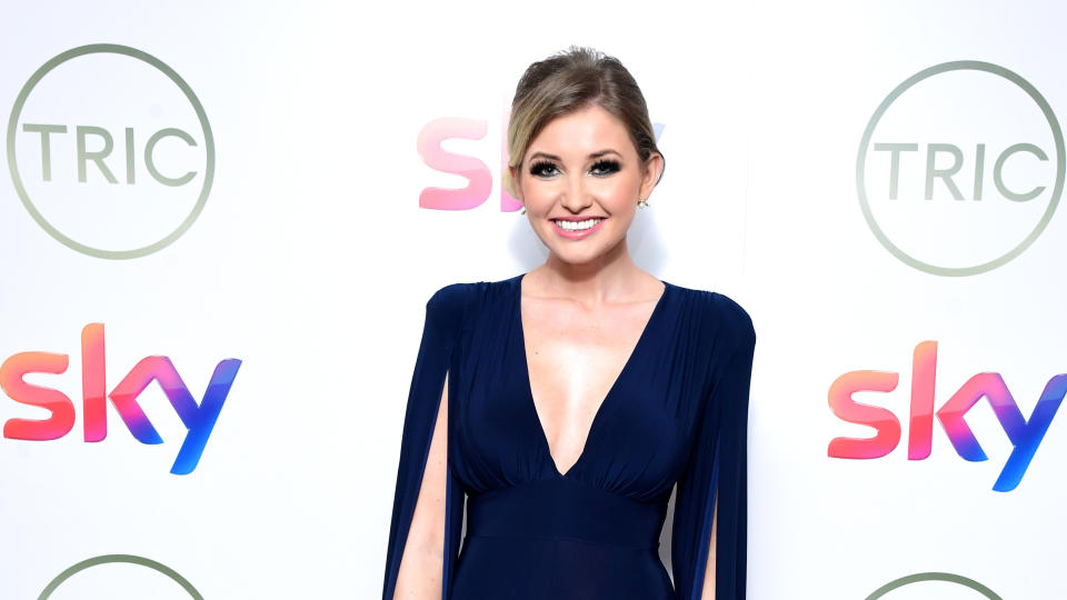 Amy Hart says working with a 'Love Island' therapist has improved her mental health. (Ian West/PA Images via Getty Images)