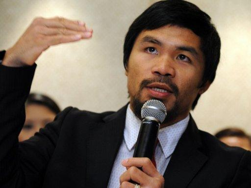 Manny Pacquiao (pictured) faces unbeaten American Timothy Bradley on June 9 in Las Vegas