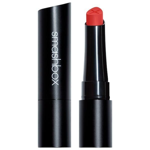 <p>The soft cream to matte formula of the <span>Smashbox Always On Cream to Matte Lipstick in Trending</span> ($24) is water-resistant and transfer-proof.</p>