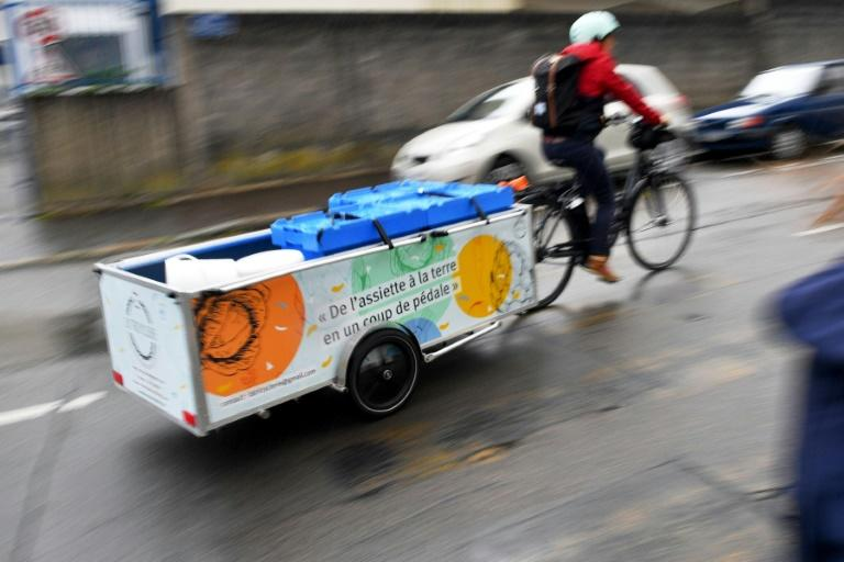 La Tricyclerie is an initiative in the western French city of Nantes that sees cyclists collect organic waste from restaurants