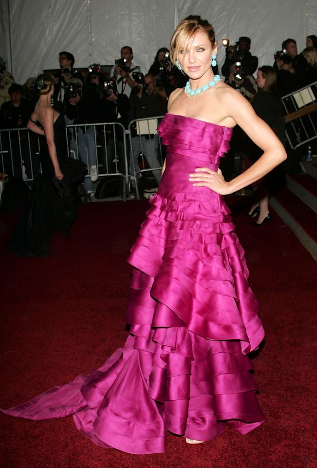 """<p><p>Cameron Diaz in Christian Dior Couture</p> <p><em>Poiret: King of Fashion </em>Met Gala, 2007</p> <p></p> <p></p>                                                                                                                                                               <p>     <strong>Related Articles</strong>     <ul>         <li><a rel=""""nofollow"""" href=""""http://thezoereport.com/fashion/style-tips/box-of-style-ways-to-wear-cape-trend/?utm_source=yahoo&utm_medium=syndication"""">The Key Styling Piece Your Wardrobe Needs</a></li><li><a rel=""""nofollow"""" href=""""http://thezoereport.com/entertainment/celebrities/pippa-middleton-wedding-dress-code-two-outfits/?utm_source=yahoo&utm_medium=syndication"""">Pippa Middleton Just Started A New Wedding Trend With This Crazy Rule For Her Guests</a></li><li><a rel=""""nofollow"""" href=""""http://thezoereport.com/beauty/makeup/forever21-riley-rose-beauty-store/?utm_source=yahoo&utm_medium=syndication"""">Forever 21 Is Said To Open The Beauty Store Of Your Dreams</a></li>    </ul> </p>"""