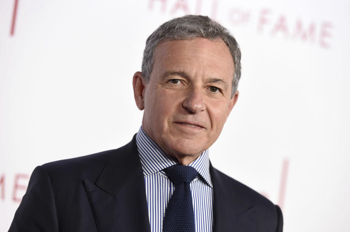 Robert Iger, Chief Executive Officer of Disney, attends the 25th Television Academy Hall of Fame on Tuesday, Jan. 28, 2020. (Jordan Strauss/Invision for the Television Academy/AP Images)
