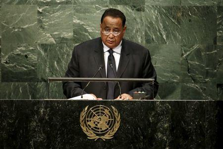 Ibrahim Ghandour, Foreign Minister of Sudan addresses attendees during the 70th session of the United Nations General Assembly at U.N. Headquarters in New York