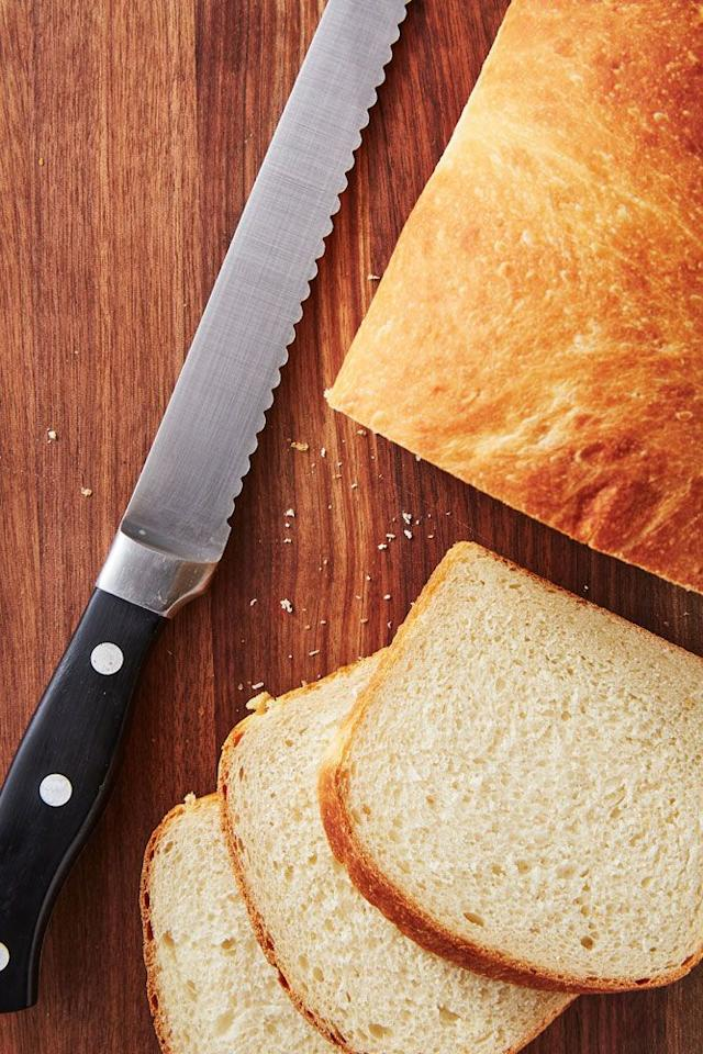"""<p>Don't be scared if you haven't baked a loaf before—bread tends to be very forgiving. This recipe for homemade bread is the perfect recipe to turn to when that supermarket loaf just doesn't cut it anymore.</p><p>Get the <a href=""""https://www.delish.com/uk/cooking/recipes/a29244530/how-to-make-homemade-bread-recipe/"""" target=""""_blank"""">Homemade Bread</a> recipe. </p>"""