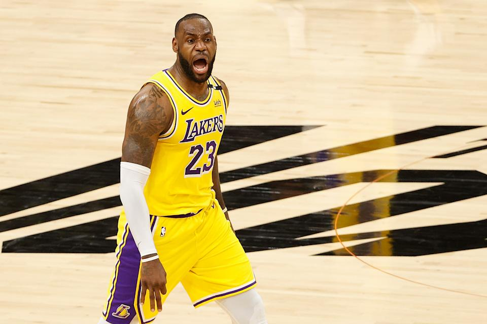 LeBron James and the Lakers helped a bettor take down a 12-team parlay. (Photo by Christian Petersen/Getty Images)