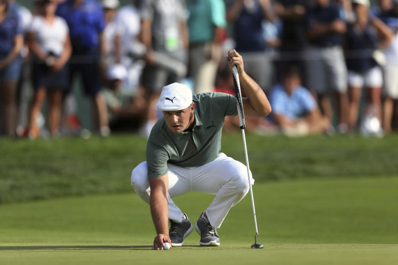 Golf Roundup: DeChambeau builds 4-shot lead at Northern Trust