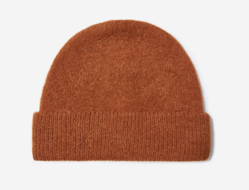 The Alpaca Beanie in Rosewood