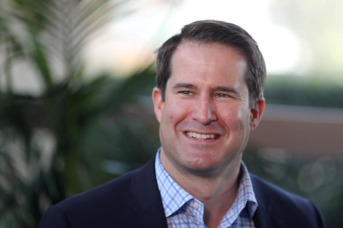 Seth Moulton poses for a photo in Burbank, Calif., in April 26, 2019. (Lucy Nicholson/Reuters)