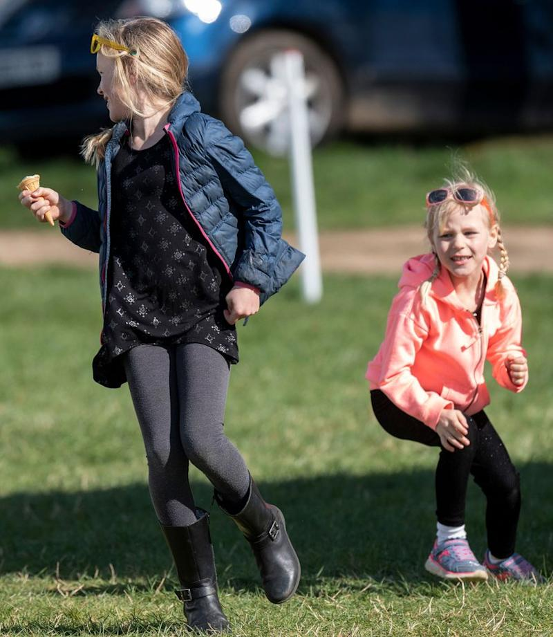 Savannah and Isla Phillips | Mark Cuthbert/UK Press via Getty