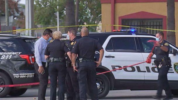 PHOTO: Officers at the scene in Houston where police Sgt. Sean Rios was shot and killed, Nov. 9, 2020. (KTRK)