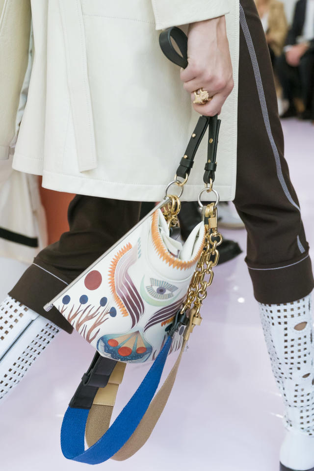 <p><i>Graphic print handbag from the SS18 Chloé collection. (Photo: ImaxTree) </i></p>