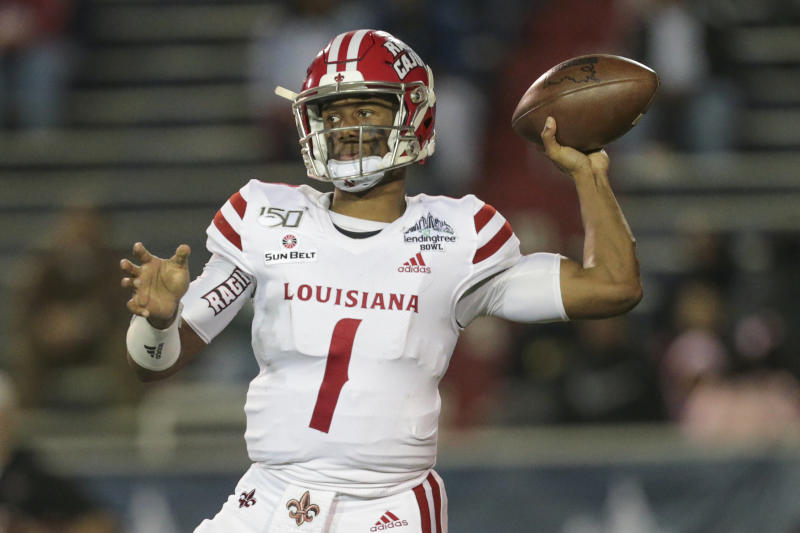 Louisiana QB Levi Lewis is an unorthodox but fascinating player. (Photo by Bobby McDuffie/Icon Sportswire via Getty Images)