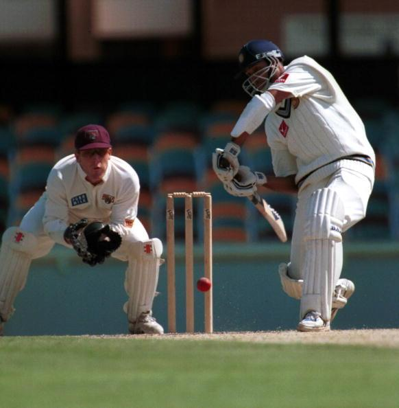28 Nov 1999:  Vangipurappu Laxman of India in action during the game against Queensland at the Gabba Cricket Ground in Brisbane. Mandatory Credit: Darren England/ALLSPORT