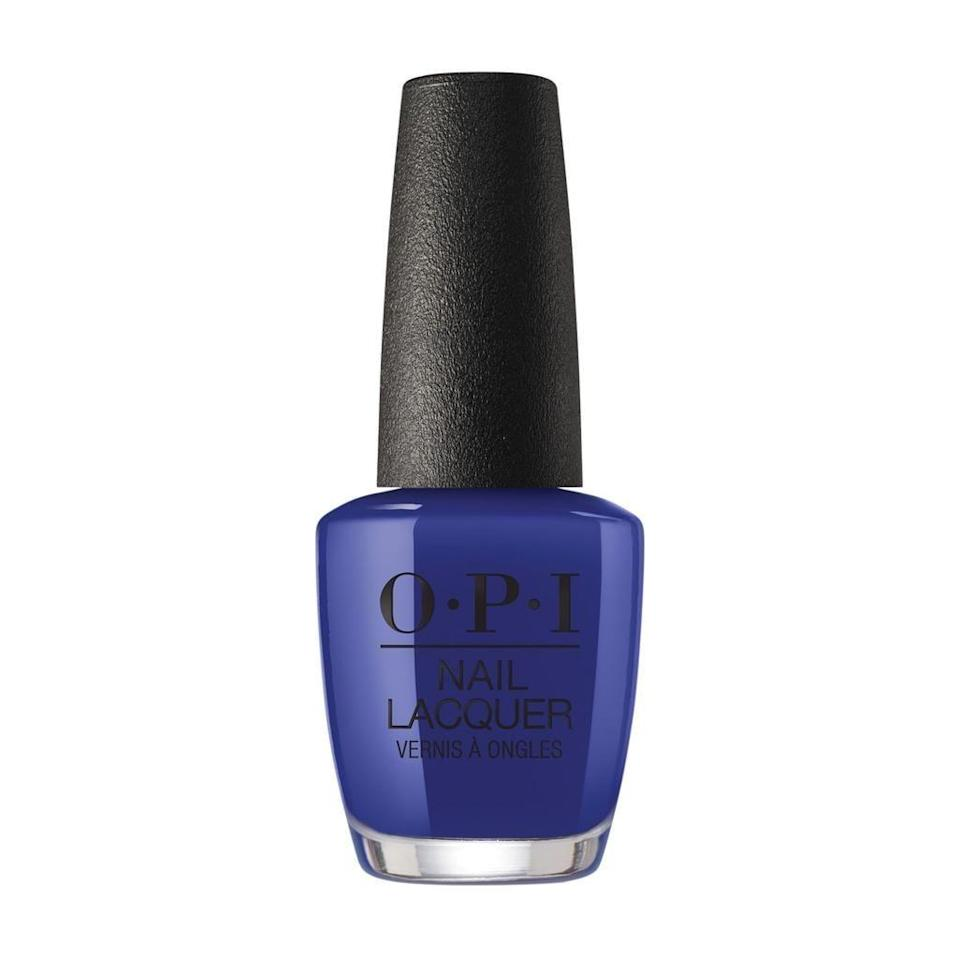 """<p><strong>OPI</strong></p><p>walmart.com</p><p><strong>$7.94</strong></p><p><a href=""""https://go.redirectingat.com?id=74968X1596630&url=https%3A%2F%2Fwww.walmart.com%2Fip%2F44443801&sref=https%3A%2F%2Fwww.harpersbazaar.com%2Fbeauty%2Fnails%2Fg33660165%2Fnail-colors-for-dark-skin%2F"""" rel=""""nofollow noopener"""" target=""""_blank"""" data-ylk=""""slk:Shop Now"""" class=""""link rapid-noclick-resp"""">Shop Now</a></p><p>Cobalt blue is a great staple color — it goes it with everything. This deep, rich blue is easily one of our favorites. </p>"""
