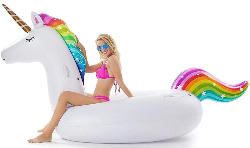 Jasonwell Giant Inflatable Unicorn Pool Float (Photo: Amazon)