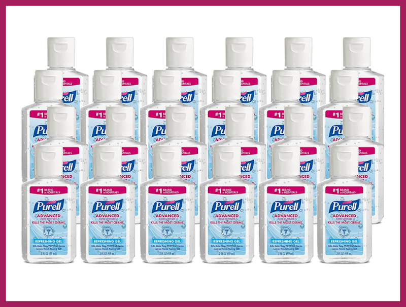 Purell Advanced Hand Sanitizer, Refreshing Gel, Clean Scent, 2-ounce Travel Sized (24-pack). (Photo: Amazon)