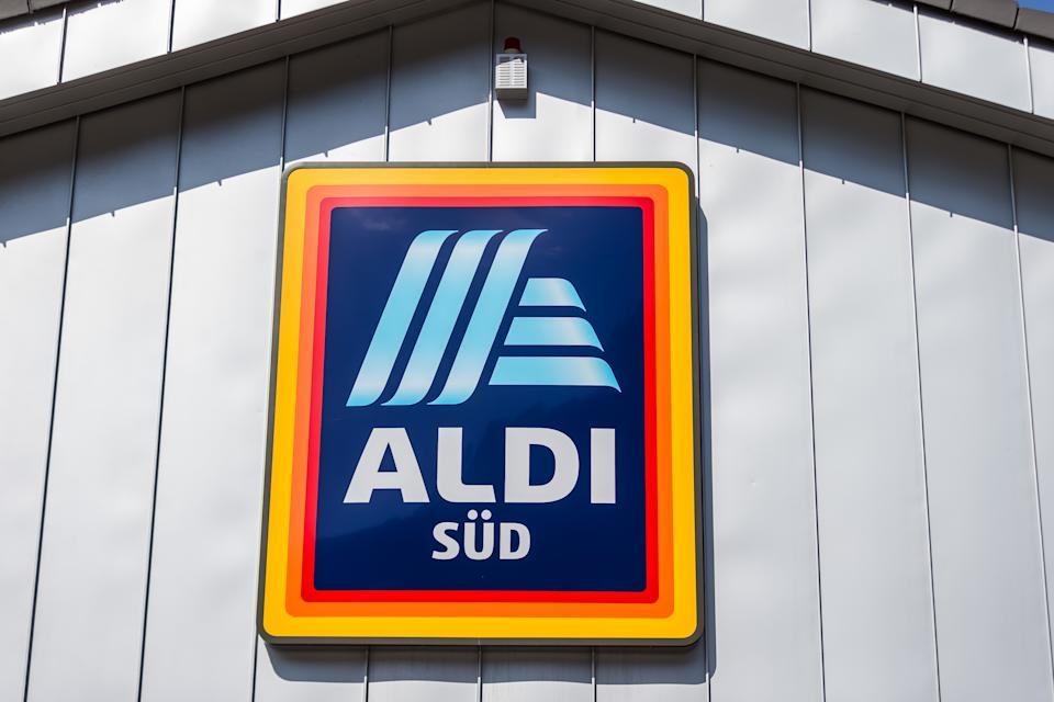 ULM, GERMANY - MARCH 22: (BILD ZEITUNG OUT) The logo of the discounter ALDI SUED is on the facade of an Aldi Sued store seen on March 22, 2020 in Ulm, Germany. (Photo by Harry Langer/DeFodi Images via Getty Images)