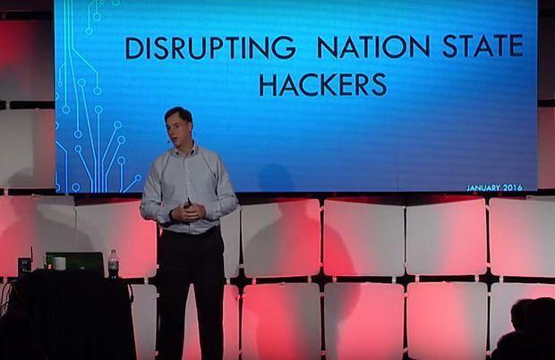 Former NSA hacker Rob Joyce, the current White House cybersecurity coordinator, gives a talk in January 2016.