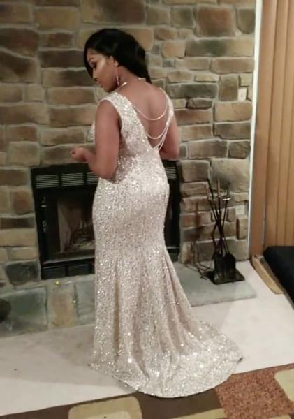 829c34d9ee7ff Mikayla debuted her sister's custom creation on prom night. (Photo courtesy  of Crystal Lewis