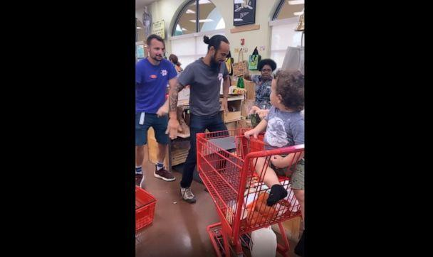 PHOTO: Alexandra Seba, mom to Julian Sol, 1 and Jade, 3, posted a video on Facebook of three Trader Joe's workers performing a dance for her toddler son in Florida (Alexandra Seba)