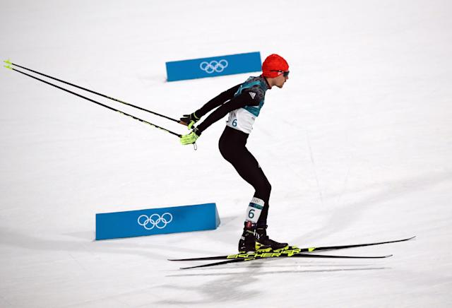 Nordic Combined Events - Pyeongchang 2018 Winter Olympics - Men's Individual 10 km Final - Alpensia Cross-Country Skiing Centre - Pyeongchang, South Korea - February 20, 2018 - Fabian Riessle of Germany in action. REUTERS/Carlos Barria