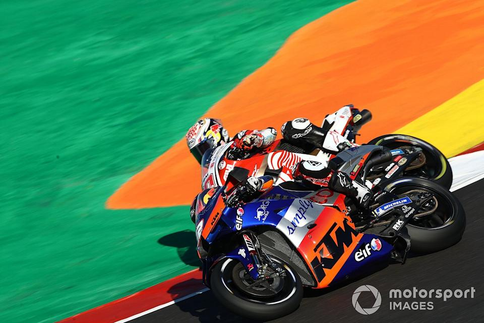 "Mika Mika Kallio, Red Bull KTM Tech 3, Red Bull KTM Factory Racing, Takaaki Nakagami, Team LCR Honda<span class=""copyright"">Gold and Goose / Motorsport Images</span>"