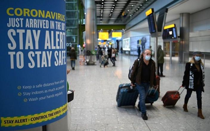 All UK arrivals must now present evidence of a negative Covid-19 test - Getty