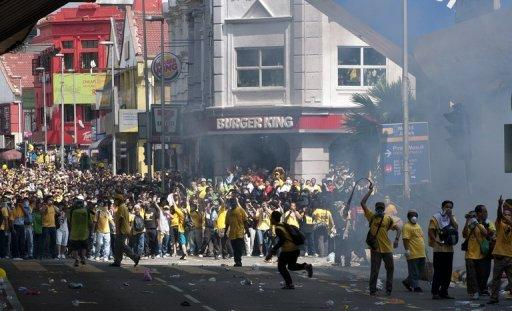Tens of thousands of Malaysians led by poll reform group Bersih 2.0 took to the streets last month