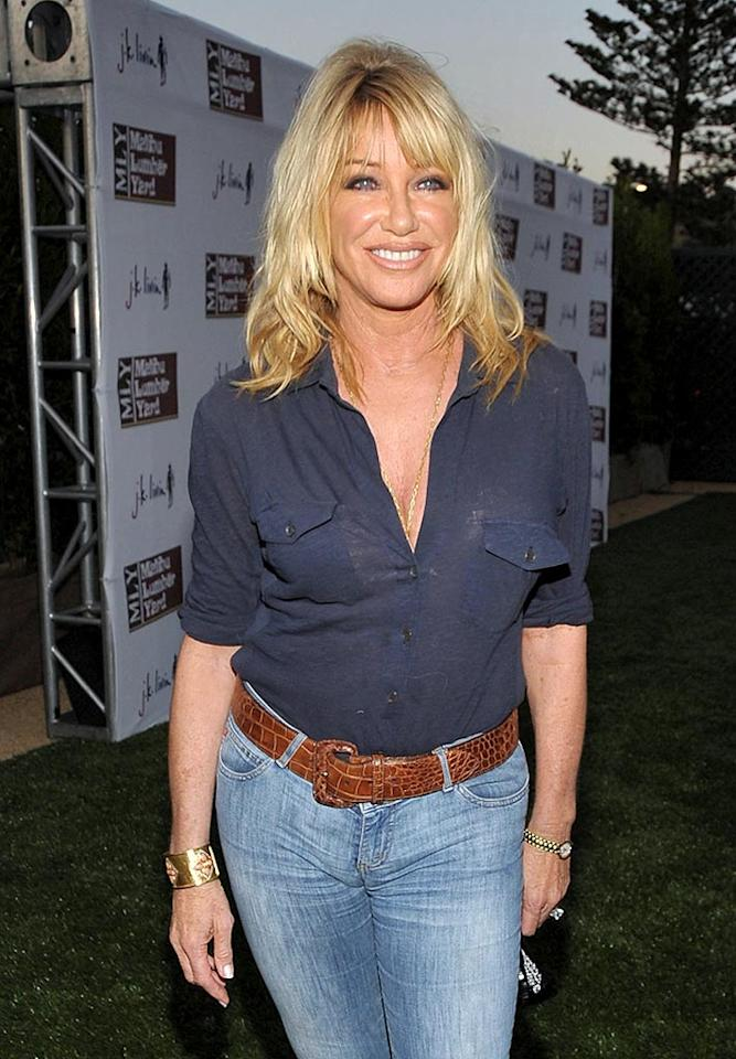"Suzanne Somers caused a controversy when, following surgery and radiation, she announced she was foregoing chemotherapy and successfully opted to use an alternative therapy (Iscador, an extract of mistletoe) to treat her breast cancer. John Shearer/<a href=""http://www.wireimage.com"" target=""new"">WireImage.com</a> - April 21, 2009"