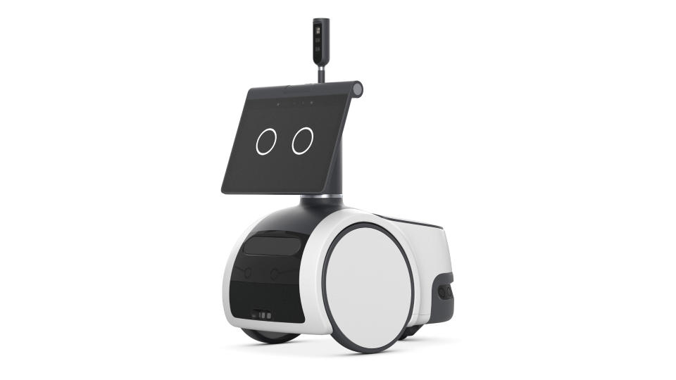 This photo provided by Amazon shows the company's new robot called Astro. (Courtesy of Amazon via AP)