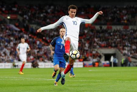 England's Dele Alli in action. REUTERS/Darren Staples