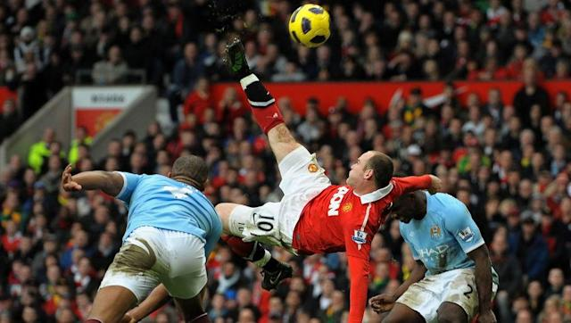 <p>There was nothing that was going to stop this goal from being part of our list, was there?</p> <br><p>Voted the best Premier League goal of all-time, Rooney's instinctive bicycle kick strike against Manchester City was an absolute joy to behold when watched live.</p> <br><p>The winning effort of a tightly contested Manchester derby, Rooney's goal sent the Old Trafford faithful into raptures as he lapped up the adulation of players, fans, staff and the media in the days and weeks that followed.</p> <br><p>Once again it was that man Nani who delivered the cross from which Rooney would score, and he duly obliged with an impromptu acrobatic shot that arrowed into the top corner. A truly marvellous strike.</p>