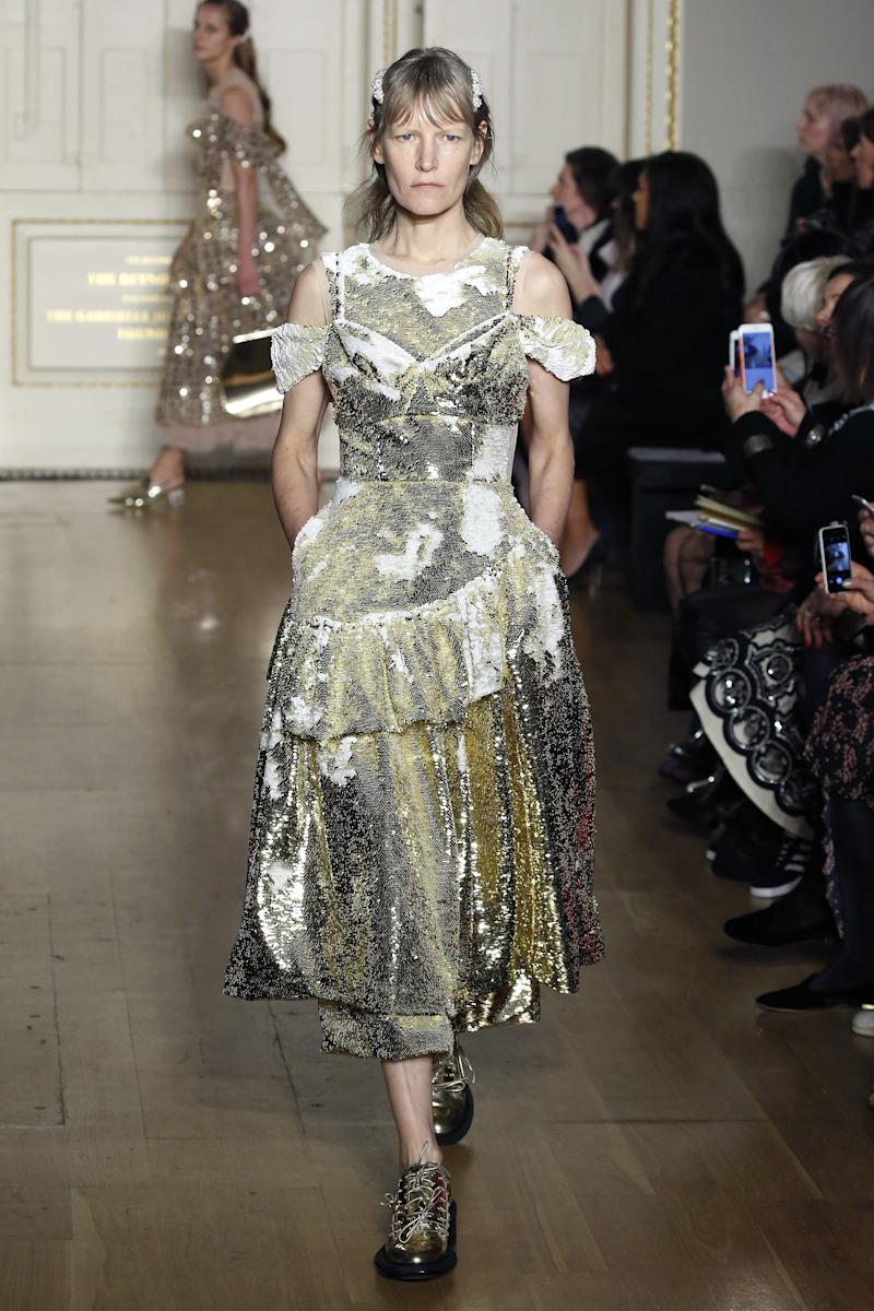 Forty-eight-year-old model and former Helmut Lang muse Kirsten Owen isn't done with the runway just yet, as she also proved at Simone Rocha in February 2019.