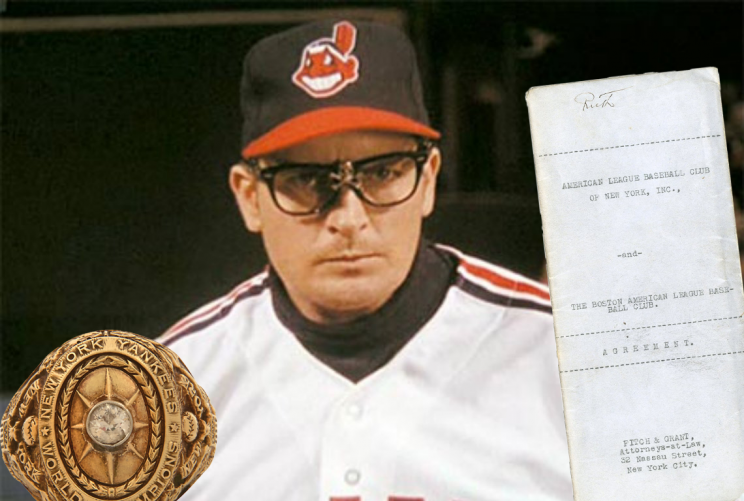 Charlie Sheen is selling two pieces of rare Babe Ruth memorabilia. (Lelands)