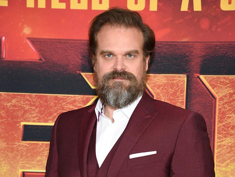 """Actor David Harbour attends a special screening of """"Hellboy"""" at AMC Lincoln Square on Tuesday, April 9, 2019, in New York. (Photo by Evan Agostini/Invision/AP)"""