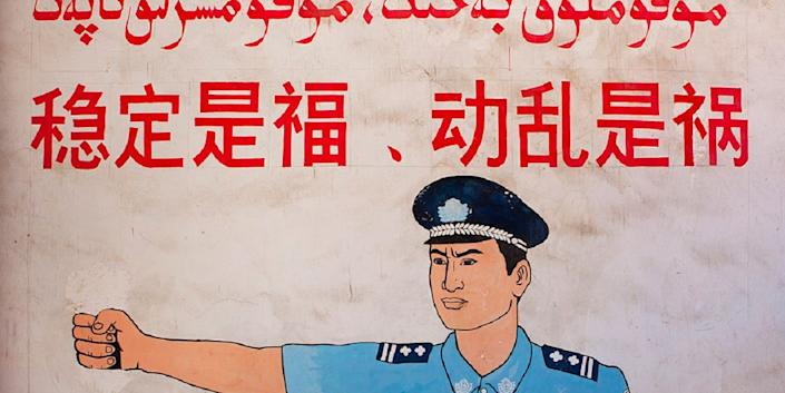 china uighur uyghur security checkpoint police