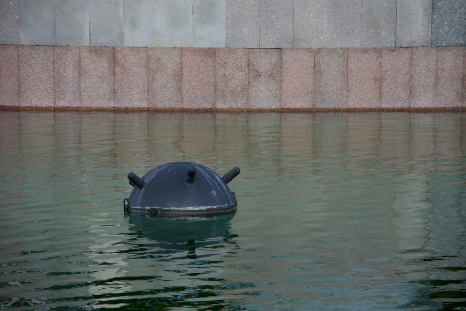 <em>The metal object is thought to be a Second World War sea mine, similar to the one pictured above (Picture: Getty)</em>
