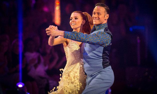 Stacey with 'Strictly' partner Kevin Clifton