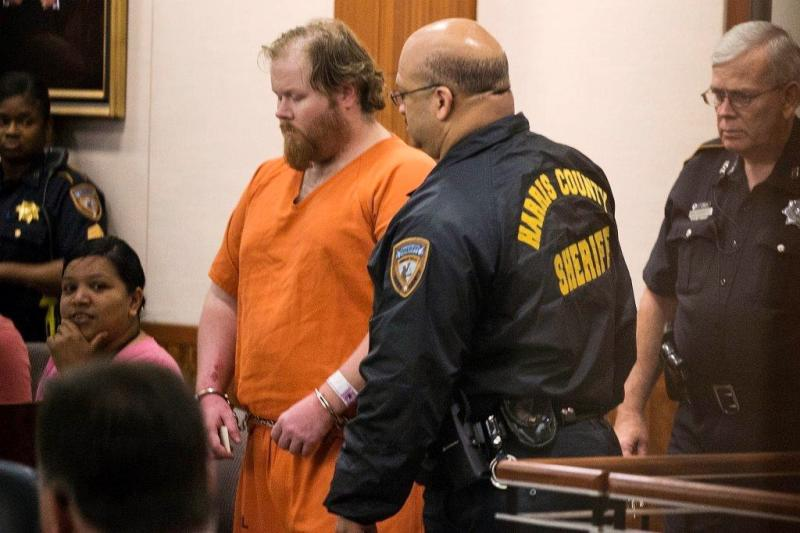 Ronald Lee Haskell, 33, is shown in court in Houston