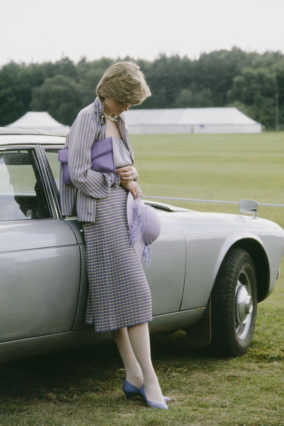 <p>The media frequently followed Diana in the summer days leading up the wedding. Here she is in Windsor after the Ascot races on June 16, 1981. </p>