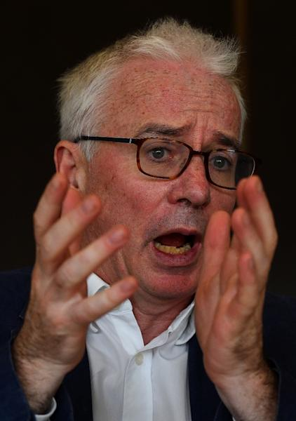 Peter Sands said efforts to eradicate AIDS, malaria and tuberculosis by 2030 are not on track (AFP Photo/Sajjad HUSSAIN)