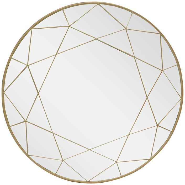 Home Decorators Collection Round Framed Gold Accent Mirror