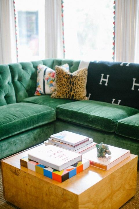 Velvet adds a touch of homeyness and comfort to any room.