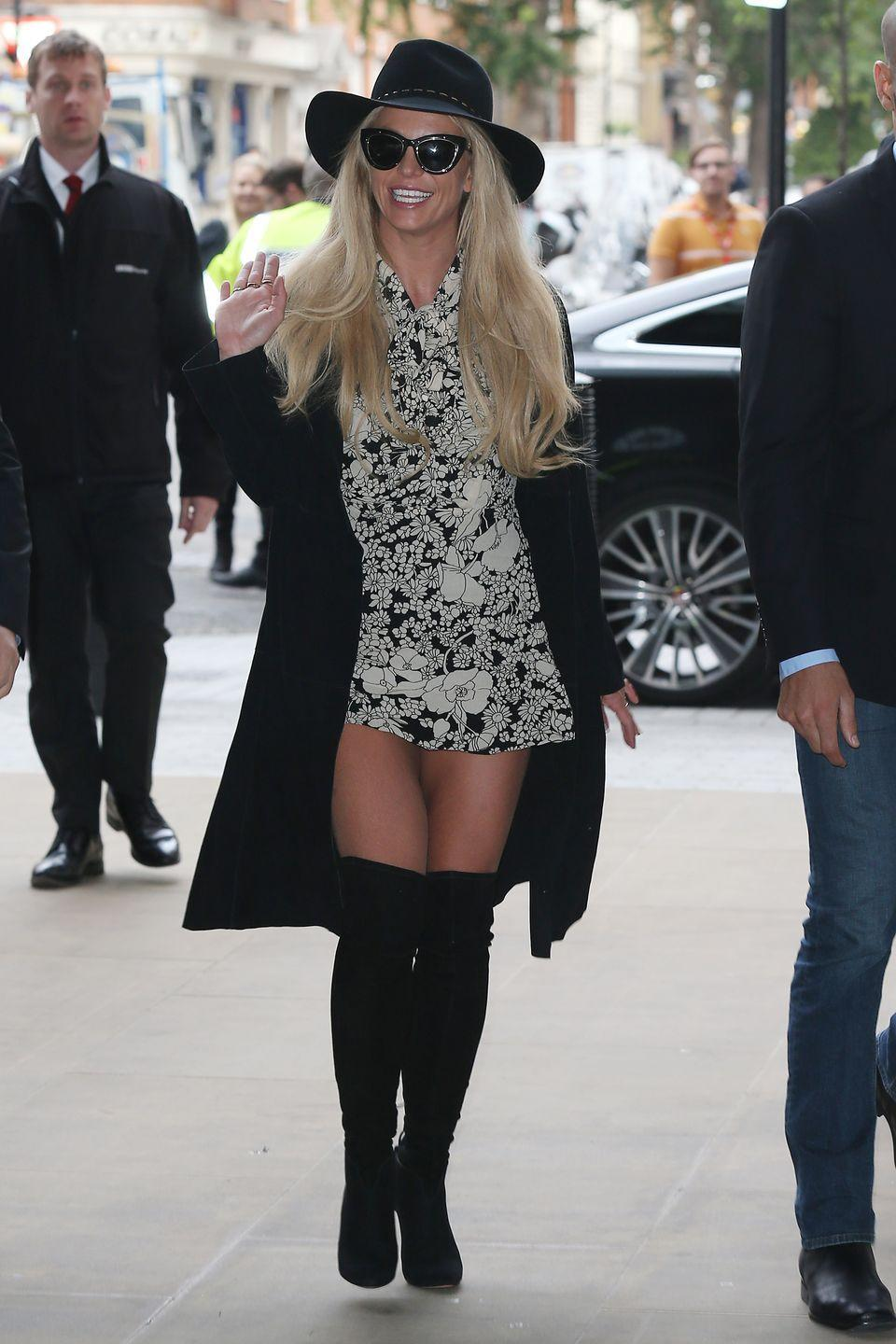<p>Britney Spears is photographed in London, England at BBC Radio 1 on September 28, 2016.</p>