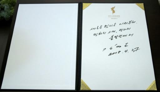 Kim Jong Un's inscription in a guestbook is being analysed for personality traits
