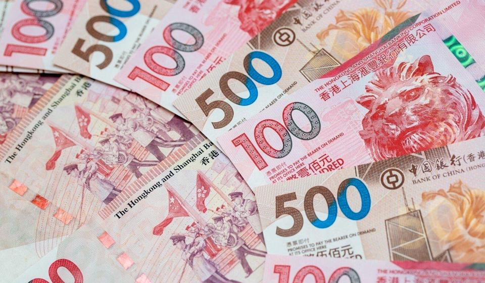 Strong capital inflows saw Hong Kong dollar deposits rise 6.2 per cent in 2020. Photo: Bloomberg
